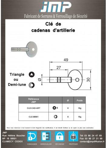 Clés Cadenas d'Artillerie - Plan Technique