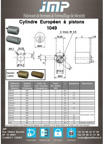 Cylindre Européen 1049-28 - Plan Technique