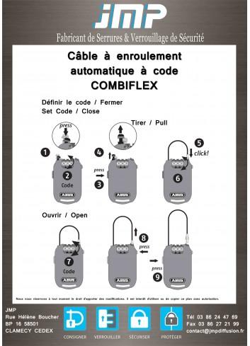 Câble à enroulement automatique à code ABUS-2501/85-COMBIFLEX - Plan Technique
