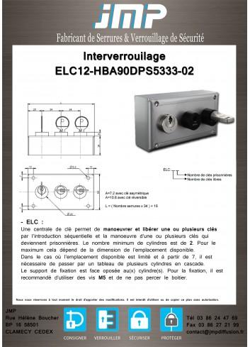 Interverrouillage ELC12-HBA90DPS5333-02 consigneurs de clés - Plan Technique